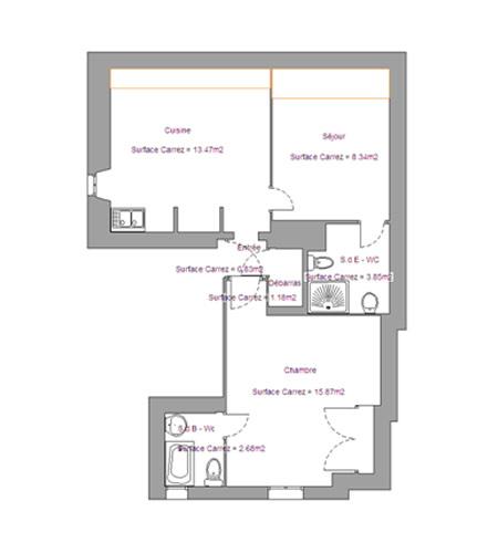 Location appartement 3 pi ces autrans for Plan appartement 3 chambres